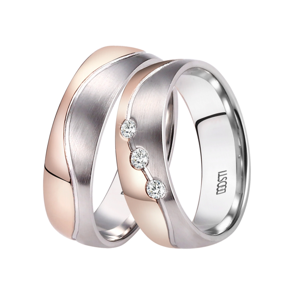 2 Trauringe Partnerringe Hochzeitsringe Ringe aus EDELSTAHL /& TITAN /& Gravur