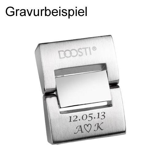 DOOSTI Armband Leder mit Edelstahlschließe Braun - mit Gratis Gravur