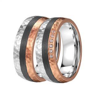 Carbon-Edelstahl-Ringe