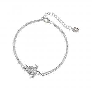DOOSTI Damen Armband Schildkröte 925 Silber rhodiniert