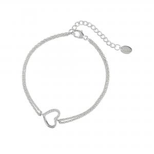 DOOSTI Damen Armband Herz 925 Silber rhodiniert