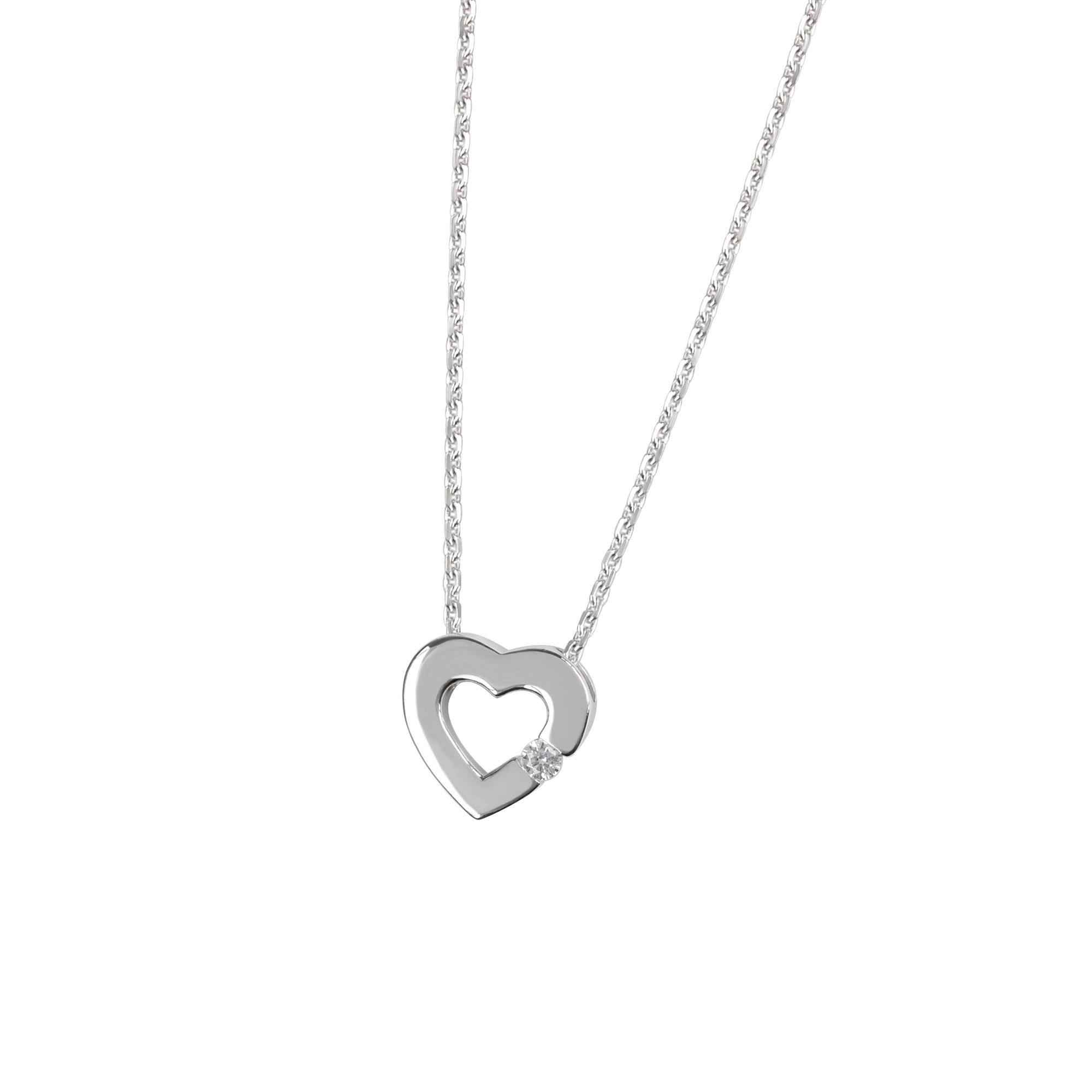 d069a7f5365e DOOSTI Damen Collier mit Anhänger Herz 925 Silber rhodiniert