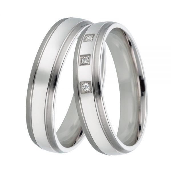 DOOSTI Freundschaftsringe / Trauringe 925/- Silber mit Brillanten - inkl. Gratis Gravur