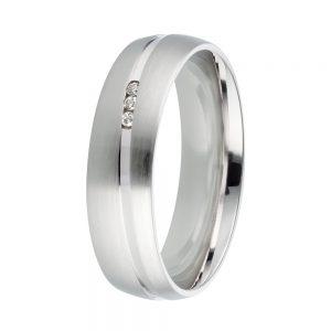 DOOSTI Freundschaftsring / Trauring 925/- Silber mit Brillanten - inkl. Gratis Gravur