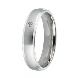 DOOSTI Freundschaftsring / Trauring 925/- Silber mit Brillant - inkl. Gratis Gravur