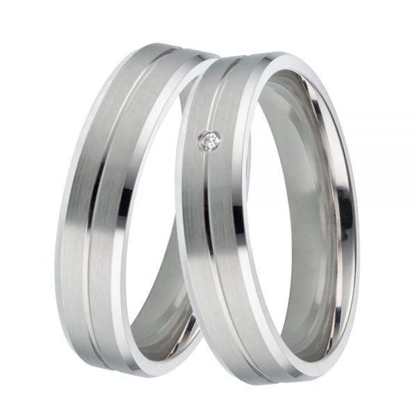 DOOSTI Freundschaftsringe / Trauringe 925/- Silber mit Brillant - inkl. Gratis Gravur