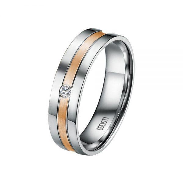 DOOSTI Partnerring / Trauring 925/- Silber – Bicolor - inkl. Gratis Gravur