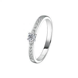 DOOSTI Verlobungsring/Antragsring/Vorsteckring Silber 925/- mit Zirkonia