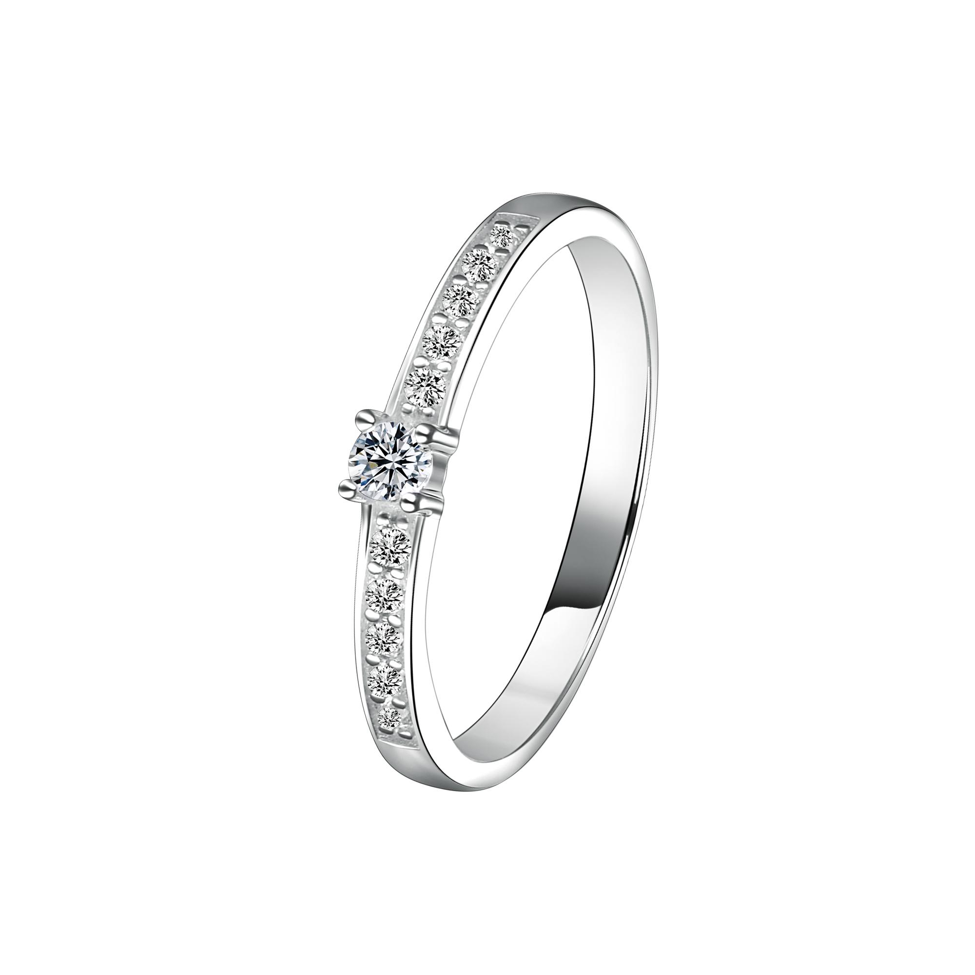 Doosti Verlobungsring Antragsring Vorsteckring Silber 925 Mit