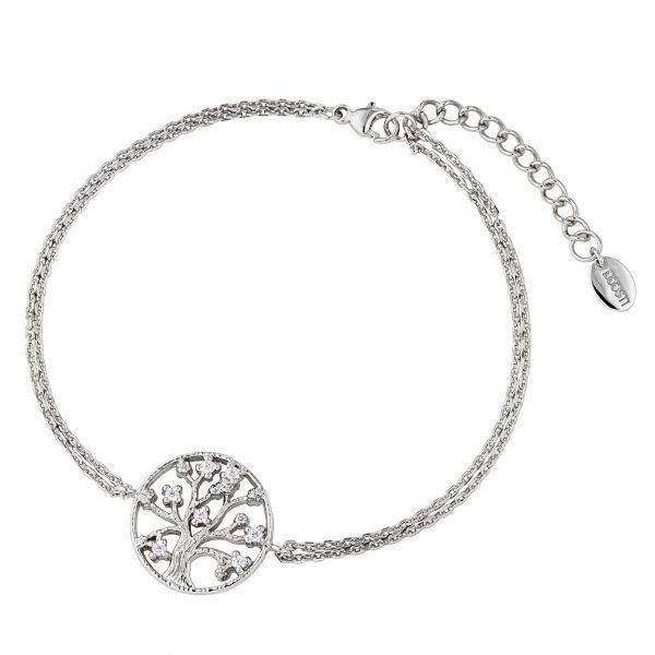 DOOSTI Zartes Armband Lebensbaum 925 Silber rhodiniert