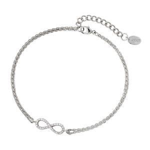 DOOSTI Damen Armband Unendlichkeit 925 Silber rhodiniert