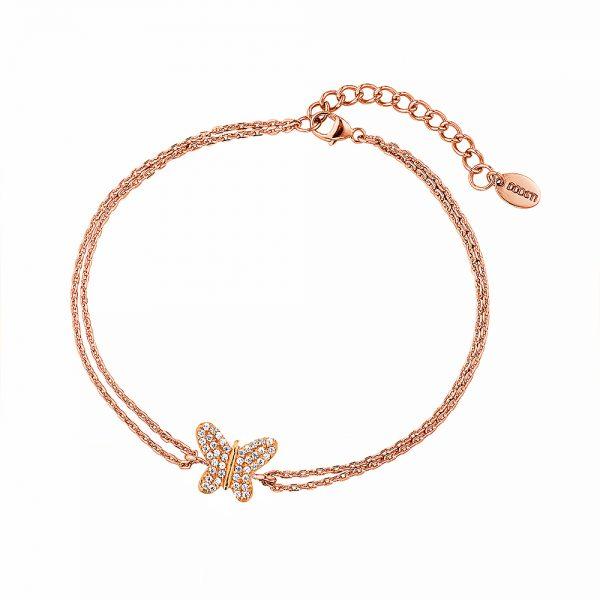 DOOSTI Damen Armband Stern 925 Silber Rosegold vergoldet