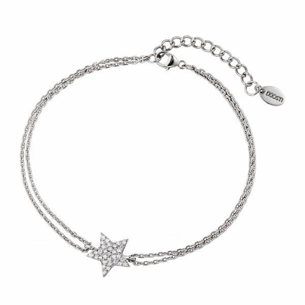 DOOSTI Zartes Armband Stern 925 Silber rhodiniert