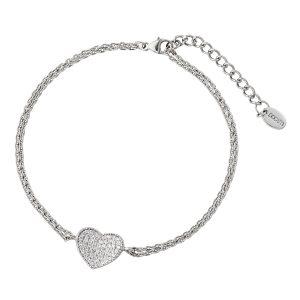 DOOSTI Zartes Armband Herz 925 Silber rhodiniert