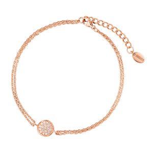 DOOSTI Zartes Armband 925 Silber Rosegold vergoldet