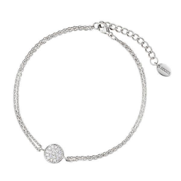 DOOSTI Zartes Armband 925 Silber rhodiniert
