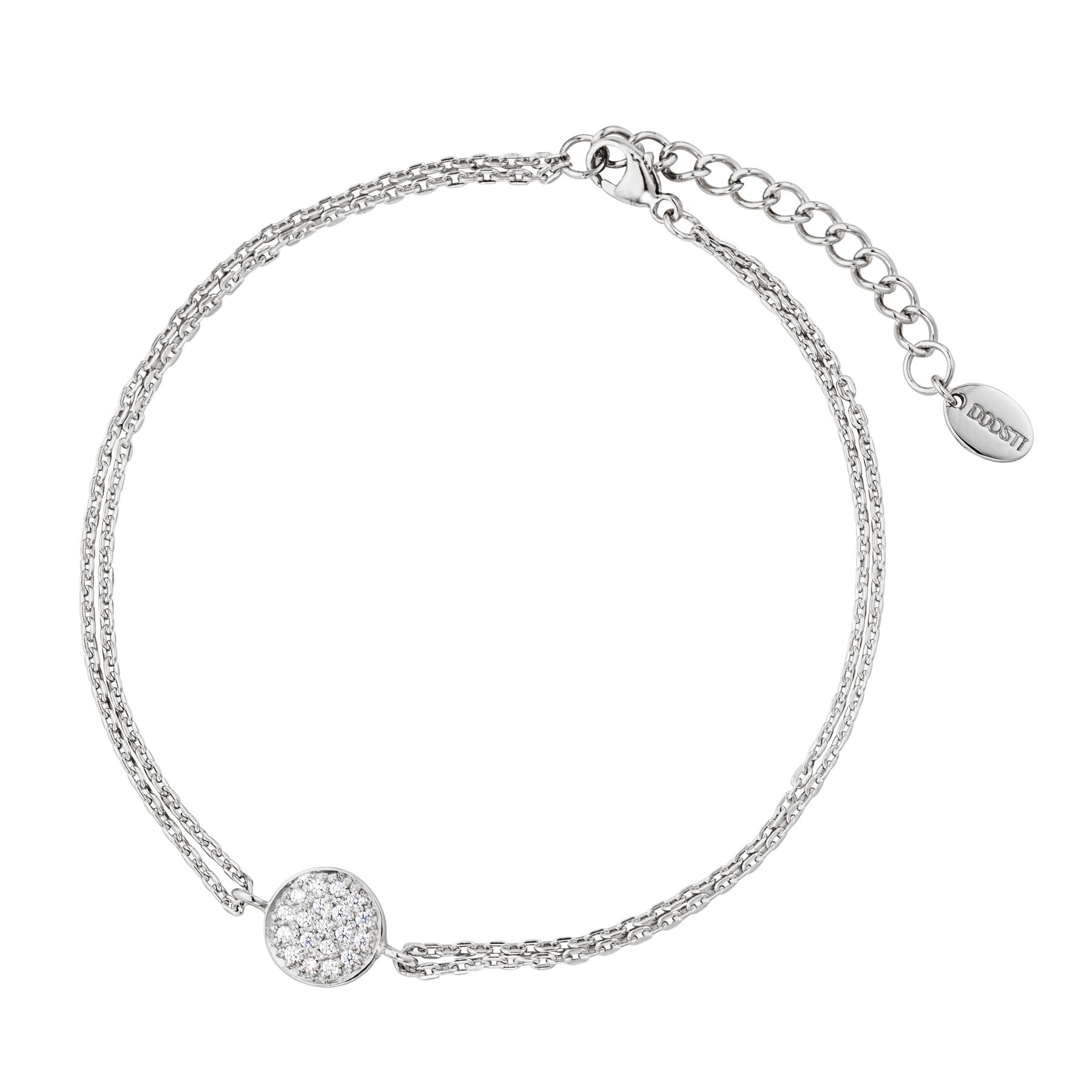 94389db04d02 DOOSTI Zartes Armband 925 Silber rhodiniert