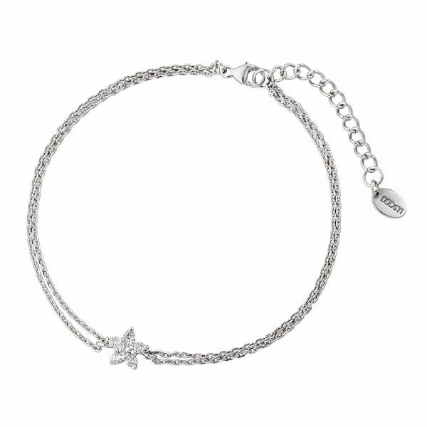 DOOSTI Zartes Armband Blume 925 Silber rhodiniert