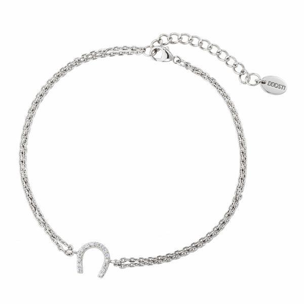 DOOSTI Zartes Armband Hufeisen 925 Silber rhodiniert