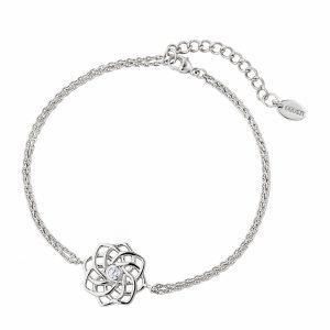 DOOSTI Zartes Armband keltischer Knoten 925 Silber rhodiniert