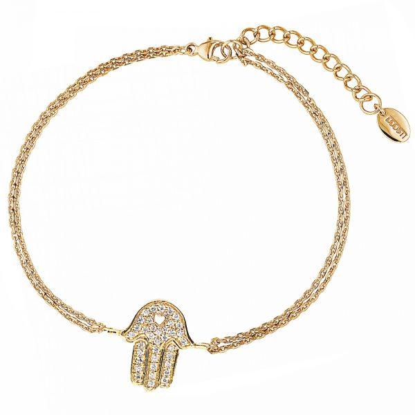 DOOSTI Zartes Armband 925 Silber Gelbgold vergoldet