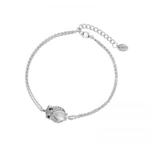 DOOSTI Zartes Armband Eule 925 Silber rhodiniert