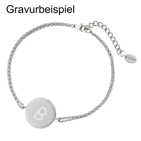 DOOSTI Zartes Armband 925 Silber Rhodiniert - inkl. Gratis Gravur