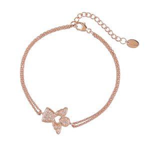 DOOSTI Damen Armband Engel 925 Silber Rosegold vergoldet