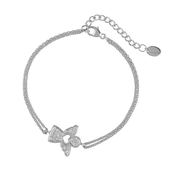 DOOSTI Damen Armband Engel 925 Silber rhodiniert