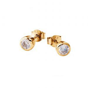 DOOSTI Zarte Ohrhänger 925 Silber Gelbgold vergoldet (Paar)