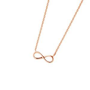 DOOSTI Zarte Halskette Unendlichkeit 925 Silber Rosegold vergoldet