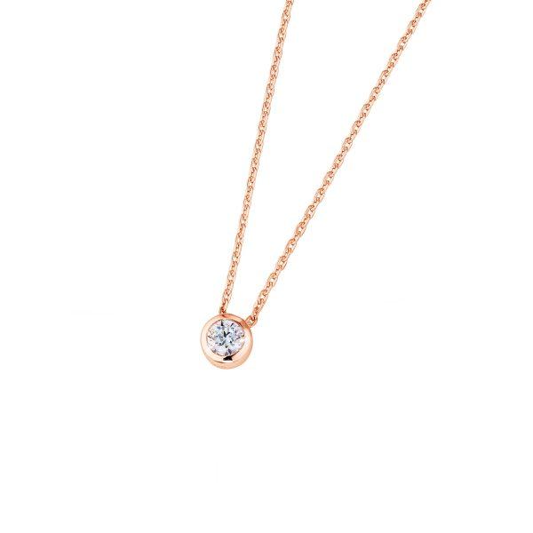 DOOSTI Zarte Halskette 925 Silber Rosegold vergoldet