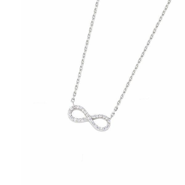 DOOSTI Damen Collier mit Anhänger Unendlichkeit 925 Silber rhodiniert