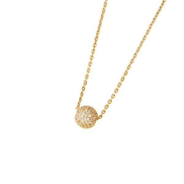 DOOSTI Zarte Halskette 925 Silber Gelbgold vergoldet