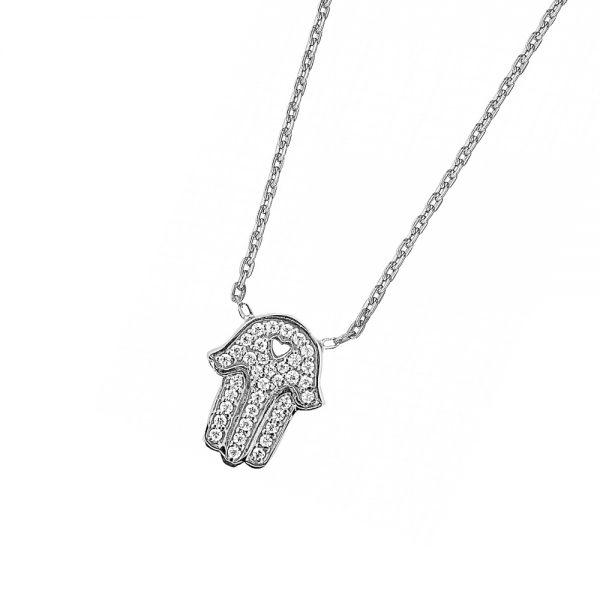 DOOSTI Zarte Halskette 925 Silber rhodiniert