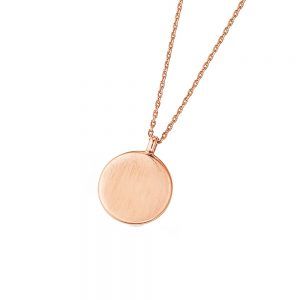DOOSTI Zarte Halskette 925 Silber Rosegold vergoldet - inkl. Gratis Gravur