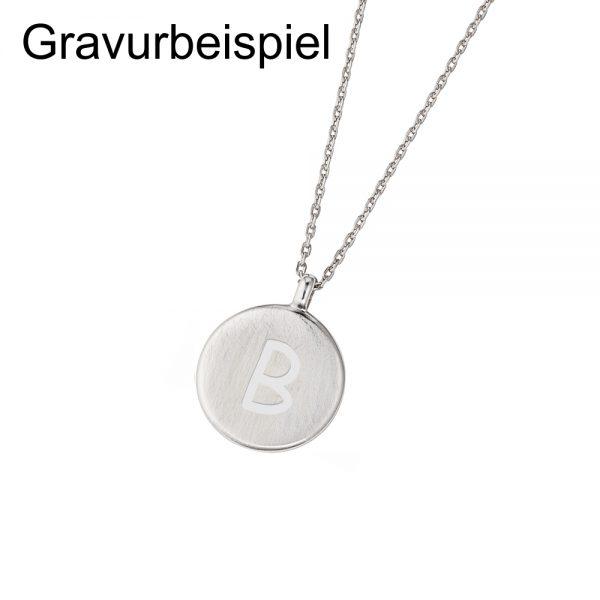 DOOSTI Zarte Halskette 925 Silber rhodiniert - inkl. Gratis Gravur
