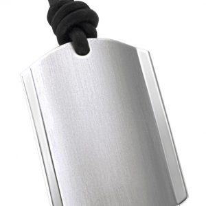 DOOSTI Edelstahlanhänger mit Lederband SUNSHINE