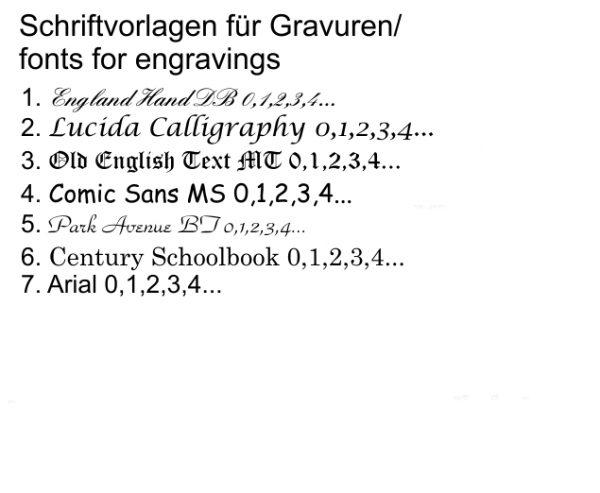 DOOSTI Keramikring Schwarz inkl. Außengravur
