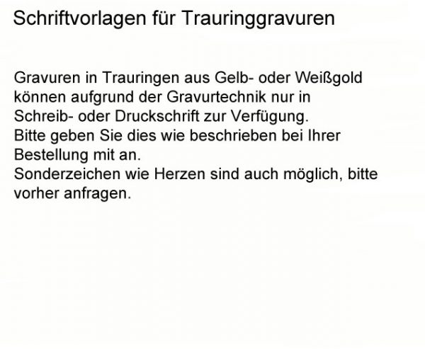 DOOSTI Trauring Weißgold - inkl. Gratis Gravur